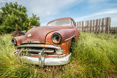 In Your Face (DeVaughnSquire) Tags: saskatchewan scenic landscape rural country car automobile vintage wreck forgotten abandoned prairie prairies