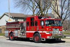 Milwaukee Fire Department Engine Co. 32 (Cragin Spring) Tags: city wisconsin wi urban unitedstates usa unitedstatesofamerica midwest milwaukee milwaukeewi milwaukeewisconsin firedepartment firedept firetruck apparatus fireengine truck red milwaukeefiredepartment