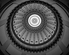 The Eye (tim.perdue) Tags: eye rotunda dome seal skylight ohio statehouse columbus architecture black white bw monochrome symmetry design repetition pattern panasonic gx85 lumix minimalism historic downtown capitol square looking up roof state