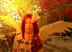 Happy Easter! (Niki Wirefly) Tags: fae fairy fairey faerie male fantasy landscape colour secondlife wings niki sl