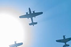 War Scene, Corpus Christi, TX (Rajesh Vijayarajan Photography) Tags: warplanes silhouettes rajeshvj rajeshvijayarajanphotography rajeshvijayarajan rajeshonflickr bluesky airshow nikond7000 sigma70300 corpuschristi texas usa