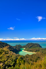 View of the island... (Ankit_) Tags: nz nelson abeltasman landscape nature island sea beach bay water blue hdr