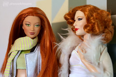 red head talk (photos4dreams) Tags: theredheadsp4d barbie doll puppe mattel photos4dreams p4d photos4dreamz red rot readhead long hair lange haare toy dress barbies girl play fashion fashionistas outfit kleider mode kayla morgaine cateblanchettooakdollp4d cateblanchett movie film stepmother stiefmutter tremaine faceup makeup dollmakeupartist puppenstube tabletopphotography cinderella ooak oneofakind upgrade dolldesigner design custom repaint