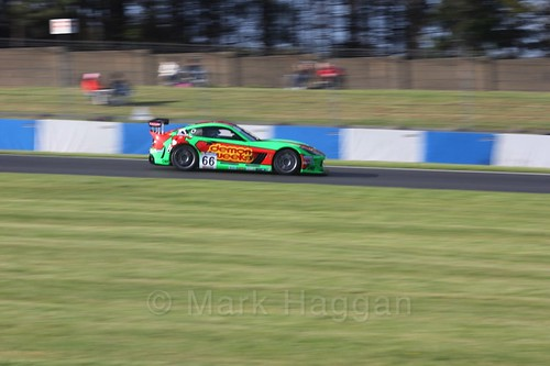 Jack Minshaw in the Ginetta GT4 Supercup during the BTCC Weekend at Donington Park 2017: Saturday, 15th April