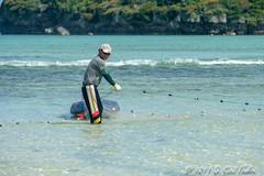 Pulling Lead Line (umijin) Tags: alupangbeach guahan guam hagatñabay tamuning territoryofguam usa beach fisherman material naturalplaces net ocean peoplegeneral sand shore sky thing water weatherelements