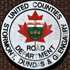 United Counties of Stormont, Dundas and Glengarry Road Department (Will S.) Tags: mypics sdg finch ontario canada sign logo