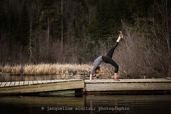 106/365 - Fused (Jacqueline Sinclair) Tags: princegeorge easter travel bridge back bend bent yoga dock water lake athletic scoliosis spinal fusion orthopaedic surgery