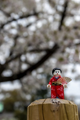 Cherry blossoms (Ballou34) Tags: 2017 7dmark2 7dmarkii 7d2 7dii afol ballou34 canon canon7dmarkii canon7dii eos eos7dmarkii eos7d2 eos7dii flickr lego legographer legography minifigures photography stuckinplastic toy toyphotography toys stuck in plastic kimono girl cherry blossom ōsakashi ōsakafu japon jp osaka japan