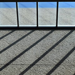 Urban Abstract No 35 (llawsonellis) Tags: indoors minimal urban urbanabstract shadows castshadowsonwall interestingwall window sky bluesky diagonals texture pattern repetition againandagain concrete glass grey blue black line lines linear rhythms grahic 2d flattened crop selection nikon nikond5300 abstractures architecture modern modernarchitecture fragments geometry square squareformat