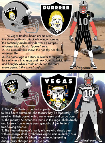 Concept Logos and Uniforms for When the Oakland Raiders Move to Las Vegas
