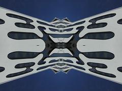Double Native American Eagle (Ed Sax) Tags: doppeladler fassade edsax hamburg freeandhansatownofhamburg freieundhansestadthamburg adler weis blau design abstrakt photokunst photoart art kunst kunstphotographie