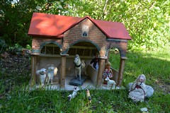 A bright April day... (shero6820) Tags: old vintage antique toy farm stable german erzgebirge sievershahn dolls animals wooden