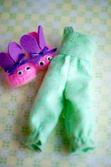 pajamas💜 (sugarelf) Tags: sleepwear pajamas slippers bunny crochet felt doll clothes