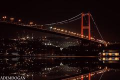 İSTANBUL (01dgn) Tags: 15temmuzsehitlerköprüsü turkey türkei türkiye travel night reflections colors red istanbul