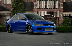 Mitsubishi Evo 9 'IV' (Mitch Hemming) Tags: mitch evolution turbo ssr mitsubishi jap jdm evo widebody hemming thelowdown zomaya mhemming prodjectmu