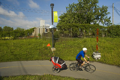 """cycle time2 (Lou Musacchio) Tags: street canada weather cycling quebec montreal bridge"""" seigneurs """"des """"urban canal"""" path"""" landscape"""" """"bike griffentown """"lachine cityscape"""""""