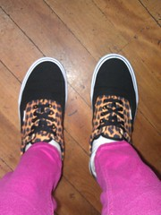 Vans shoes (GeoWombats) Tags: june shoes hanna leopard nsw vans animalprint 2013