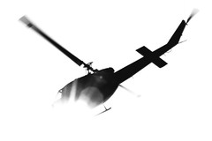 FLYING SILHOUETTE (Sign-Z) Tags: bw monochrome japan nikon helicopter iwate  d3 ichinoseki     nikkor2470mmf28ged