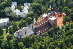 Tartu Cathedral From Above (tarmo888) Tags: architecture europe estonia sony aerialview medieval oldtown eesti tartu estland vanalinn toomkirik roheline photoimage greencolor sooc sonyalpha welcometoestonia tartumaa visitestonia sony geosetter geotaggedphoto nex7 sel18200 foto positivelysurprising dorpatcathedral dorpaterdomkirche year2013
