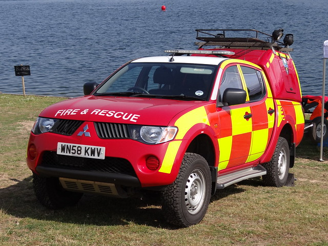 rescue water truck fire day 4x4 south yorkshire 4wd pickup technical vehicle and warrior leds service mitsubishi grilles unit tru lightbar wru 2013 syfrs wn58kwv