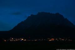 Zugspitze in the night (Vahan Aghajanyan) Tags: mountain mountains night dark austria darkness nacht moonlight tyrol dunkel zugspitze   zugspitzarena heiterwanger