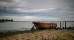 Riverside [Explored] (Nigel Jones QGPP) Tags: longexposure motion blur water clouds river rust riverside medway