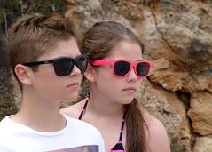 Ben and lids pose4 (TheNotQuiteFool) Tags: beach glasses spain ben lydia menorca sturgess calanporter