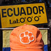 "Ecuador: Billy Brockway displays his Clemson cap at the equator near Quito. Billy, a huge Tiger fan, is on a trip around the world and includes his Clemson spirit wherever he goes. Follow his travels on his blog at 50years50countries.com. • <a style=""font-size:0.8em;"" href=""http://www.flickr.com/photos/49650603@N07/9801505375/"" target=""_blank"">View on Flickr</a>"