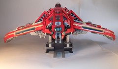 """T-06 """"Droopy Dragon"""" Transport Helicraft (BrickinA) Tags: ship lego scifi shiptember"""