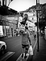Riding a moto?! (Halibel14) Tags: street city people blackandwhite bw italy car canon island photography capri photo streetphotography powershot riding moto 46 a495