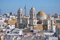 Catedral de Cádiz vista desde la Torre Tavira.