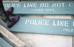 Police Line Do Not Cross (bortx_) Tags: new york city nyc newyorkcity newyork film st 35mm canon do village cross kodak police nypd line pelicula analogue 135 portra greenwhich 160 at1 analogico fdlens not bleeckler