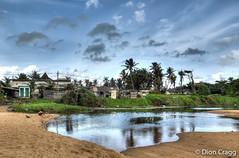 Lavinia Village (Dion Cragg) Tags: reflection beach palms village palmtrees srilanka hdr colombo mountlavinia