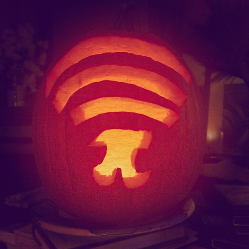 Ladies and Germs, I present you with the Pumpkin Pi-Fi. The key is 3.14159.