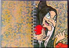 Old Witch Diary (Filmic Light) Tags: journal disney snowwhite sevendwarfs wickedwitch evilqueen oldhag