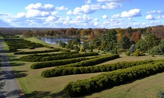 Dawes Arboretum (tim.perdue) Tags: autumn trees ohio sky tower fall nature grass clouds observation landscape words topiary letters arboretum foliage newark bushes dawes