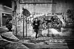 Phone call (big andrei) Tags: street leica bw wall grain cyprus phonecall nicosia m82 28mm28 elmaritm