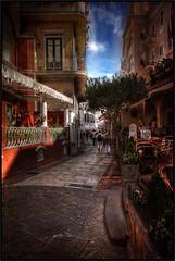 Narrow streets of Capri. (tuffgrass 63 Back Not around much.) Tags: travel italy holiday capri sorrento