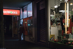 Untitled (Ranga 1) Tags: nightphotography urban man night canon lowlight nocturnal candid fitzroy australian streetphotography australia melbourne victoria shops suburbs shopwindow cinematic urbanlandscape nightexposure davidyoung gertrudestreet lowlightphotography innersuburbs innermelbourne ef24105mmf4lusm canoneos5dmarkii