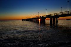 Incolonnato (S@arle-p) Tags: sunset sea italy sun canon eos italia tramonto mare ombra massa tuscany toscana sole canoneos spiaggia colonne pontile colonnato marinadimassa eos600d canoneos600d