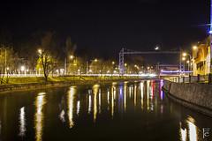 reflections (Farkas Endre) Tags: night river long exposure cluj kolozsvr szamos some