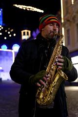 People in Ljubljana (I Enjoy My Life) Tags: color night lights slovenia ljubljana sax