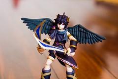 Dark Pit com Silver Bow em forma de lâminas (FaruSantos) Tags: toys nintendo figurine 3ds kidicarus figma nintendo3ds kidicarusuprising darkpit