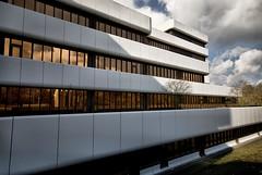 golden windows (chipsmitmayo) Tags: building office high nikon dynamic angle wide sigma bürogebäude bank architektur 1020mm range harald hdr münster lbs siebziger weitwinkel verwaltung d80 deilmann bausparkasse
