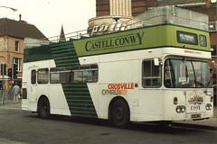 Crosville (ex Southdown) Daimler Fleetline CRG6LX/Northern Counties H40/31F HDG911 TCD381J in Rhyl (John Hague) Tags: wales rhyl daimler denbighshire crosville northerncounties daimlerfleetline crosvillewales crosvillecymru