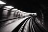 Speed (. Jianwei .) Tags: bw motion lines vancouver train subway curves rail slowshutter skytrain nex kemily nex6