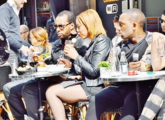 2014-04-12  Bianco - 60 Rue Montorgueil (P.K. - Paris) Tags: street people paris caf french terrace outdoor pavement candid drinking terrasse sidewalk april avril openair 2014 terrazza