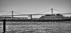 San Francisco (trapperkreeper) Tags: california sanfrancisco blackandwhite oaklandbaybridge