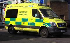 West Midland Ambulance Service, Emergency Ambulance 4229 (photobobuk - Robert Jones) Tags: westmidlands ambulance service emergency 999 4229 oldsquare birmingham public health uk