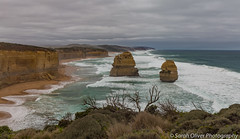 Just two of the remaining eight... (sarahOphoto) Tags: princetown victoria australia au great ocean road twelve apostles 12 canon 6d landscape nature limestone beach outdoors seascape stacks